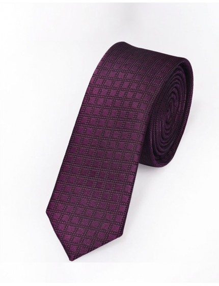 Cravate slim violette