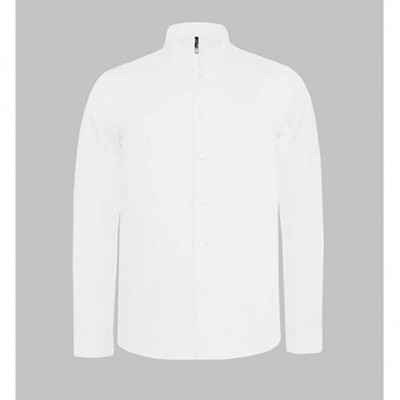 Chemise blanche manches longues col mao