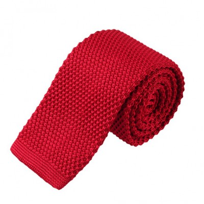 Cravate tricot rouge